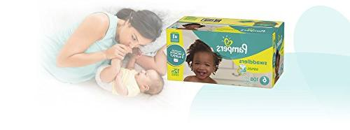 Pampers Disposable Diapers 6, Count, ONE MONTH