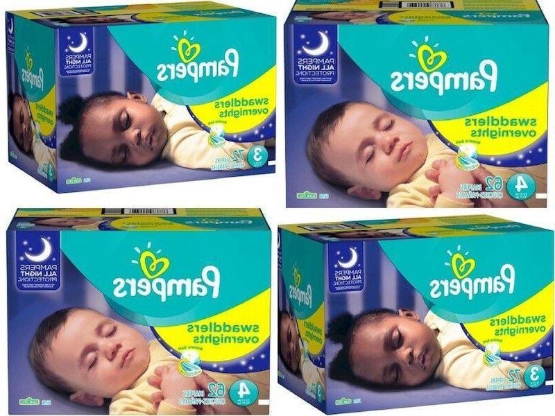 swaddlers overnights baby diapers size 3 4