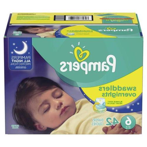 swaddlers overnights disposable baby diapers size 6