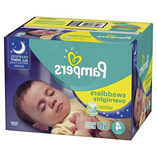 Pampers Disposable Baby Size 4, 58 Count,