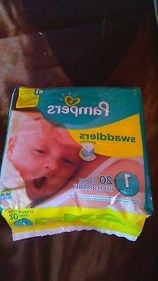 Pampers swaddlers Size 1 20Ct X7