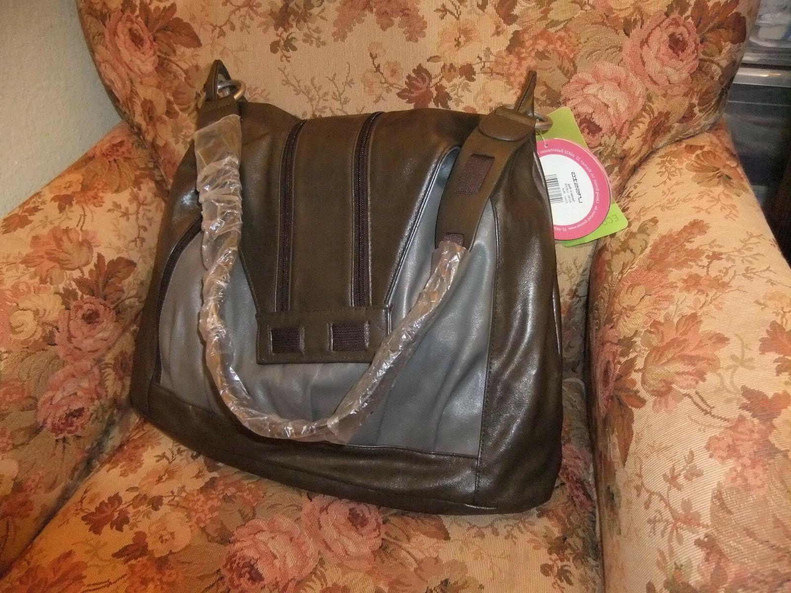 "Lassig V Bag Diaper Bag Friendy, Brown Gray, 17"" NEW"