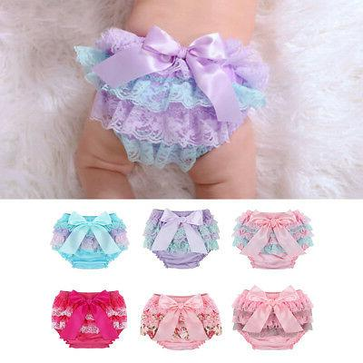 toddler baby infant girl lace ruffle bloomer