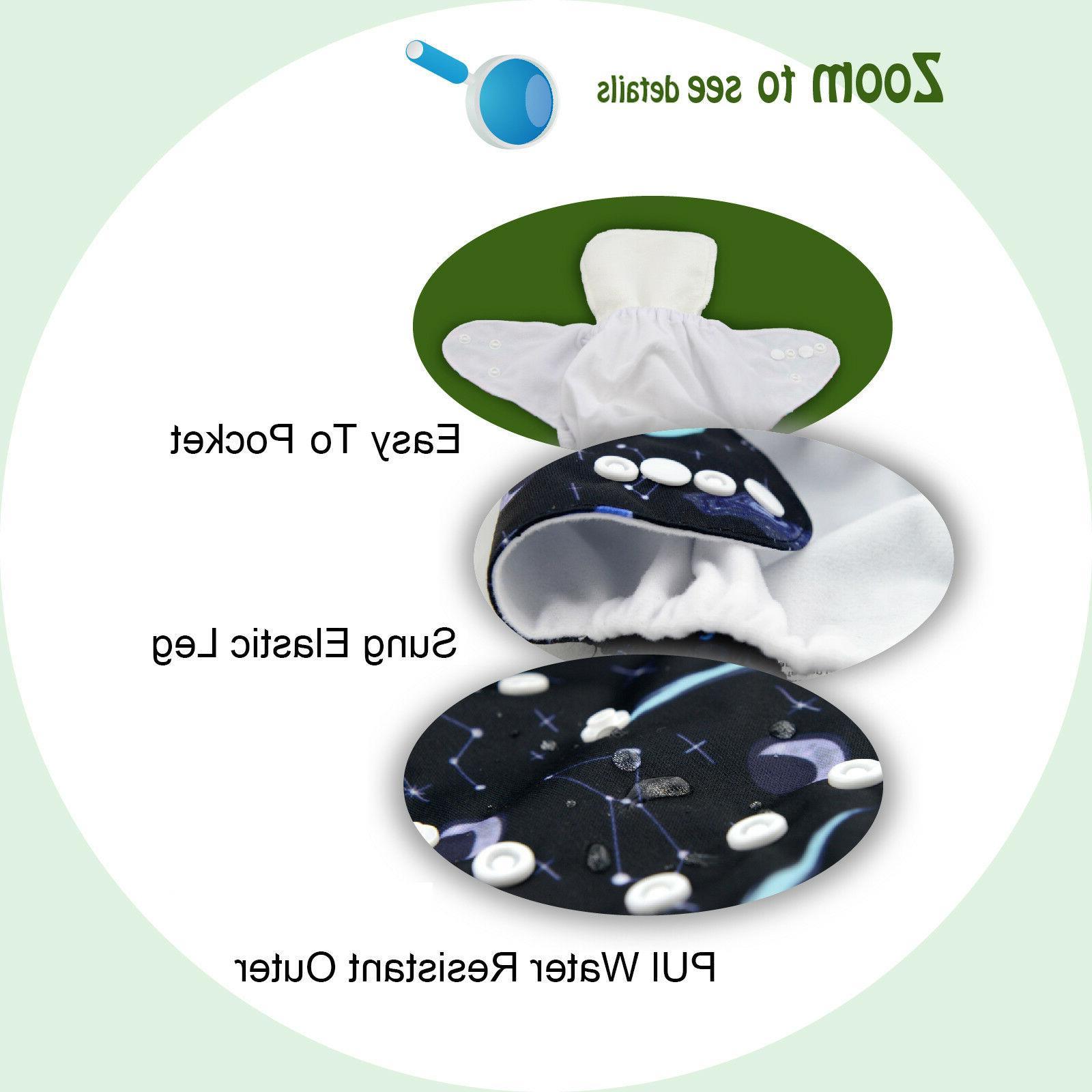 ALVABABY Cloth Diapers 1pcs