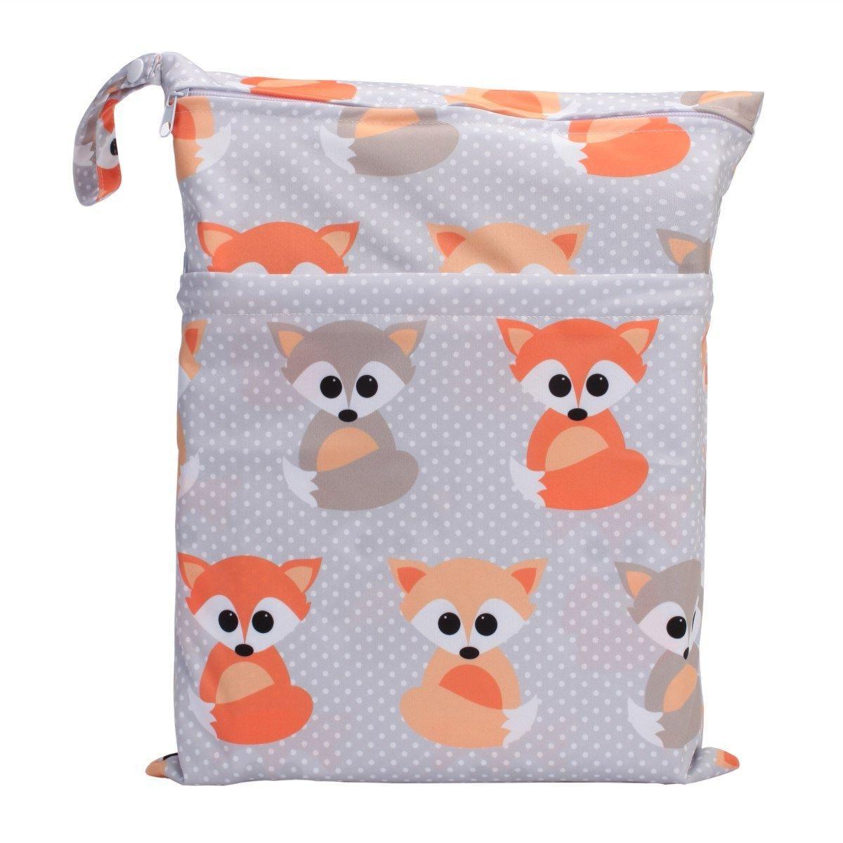 U Pick Bag Baby Cloth Nappy Bag Two Zipper Pockets