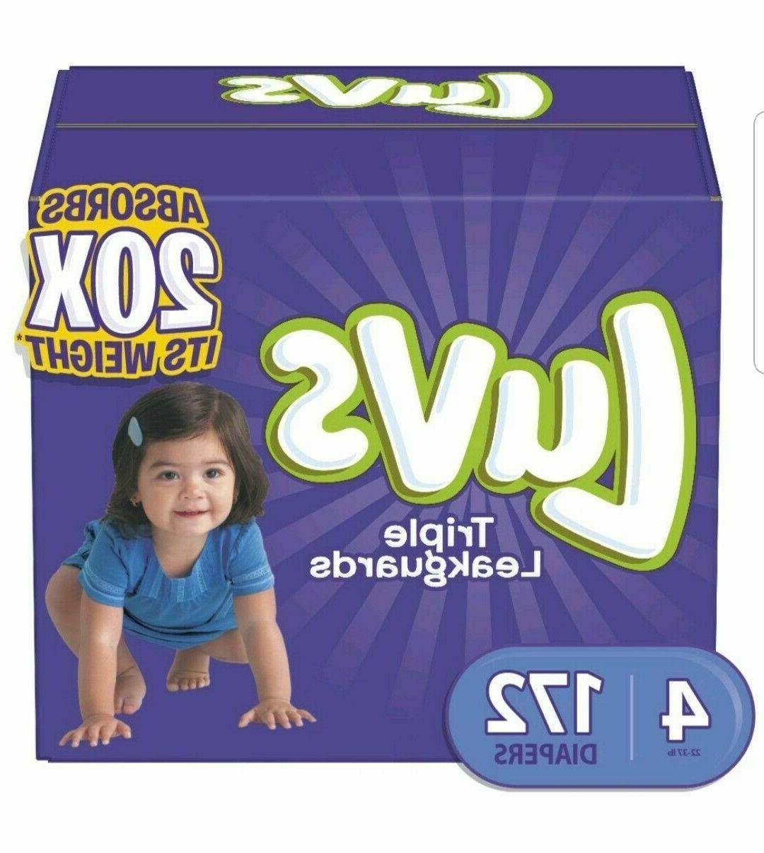 Luvs Diaper Size 1, 3, 4, ONE DAY