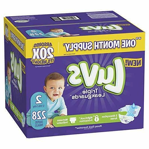 Luvs Ultra Leakguards Disposable Baby Diapers, Size 2,228 Co
