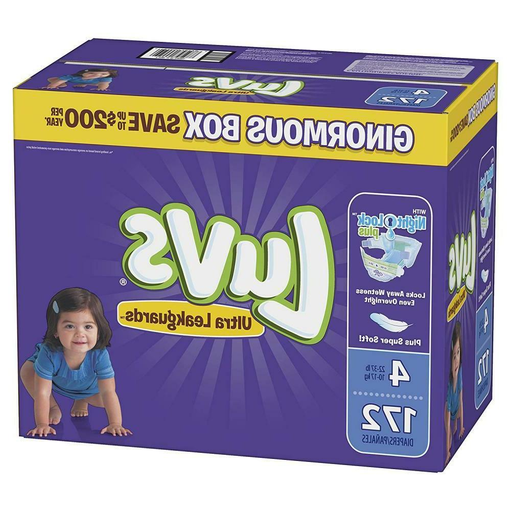 Luvs Diapers, Size 4, Count, ONE Supply
