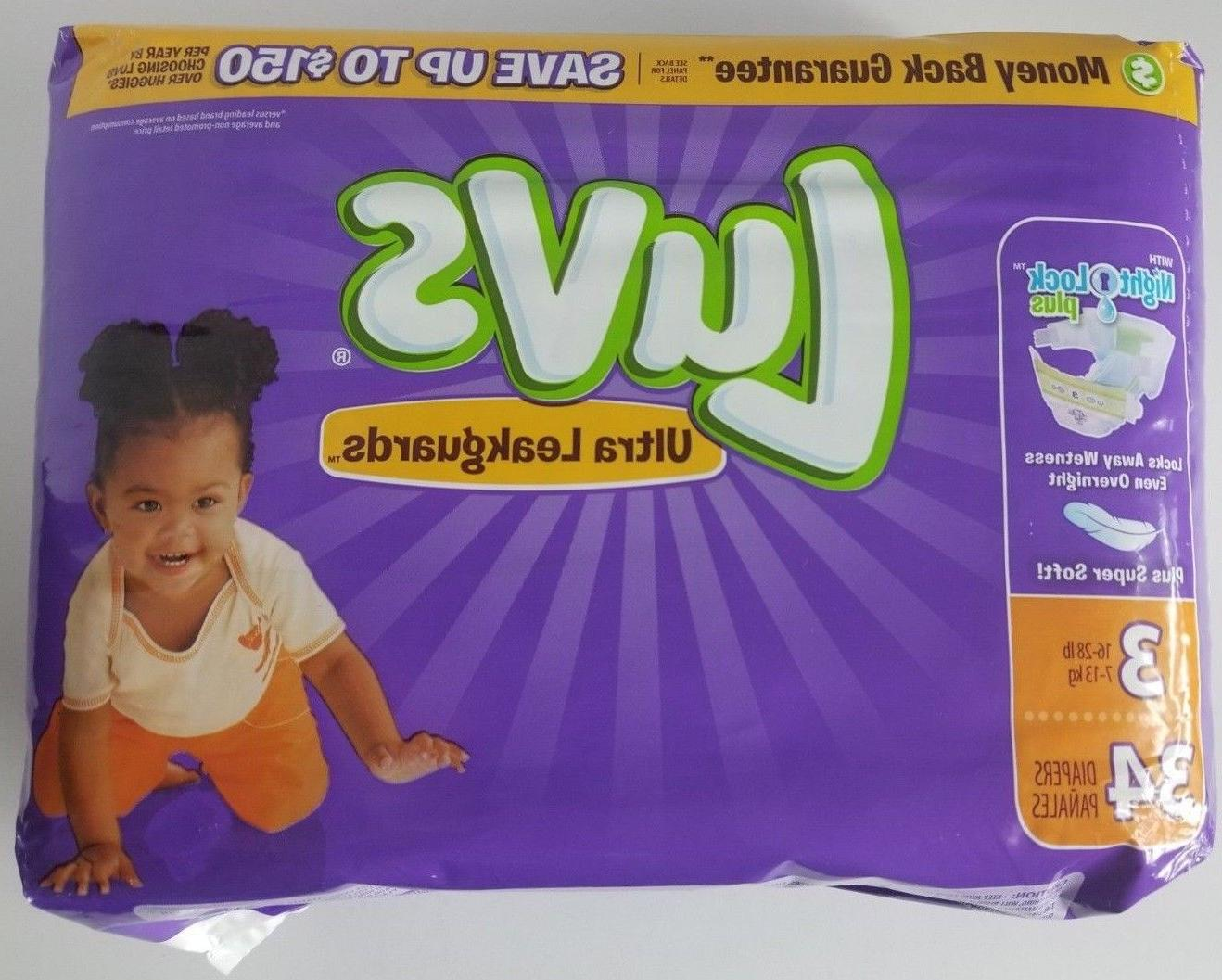 ultra leakguards size 3 34 diapers night