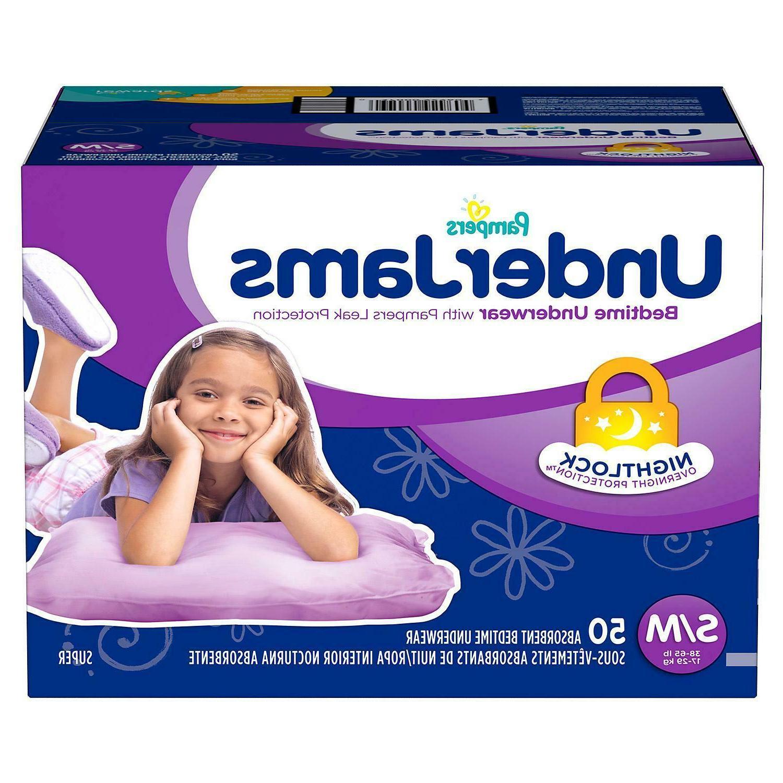 underjams bedtime underwear overnight girls s m