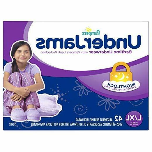 underjams disposable bedtime underwear for girls size