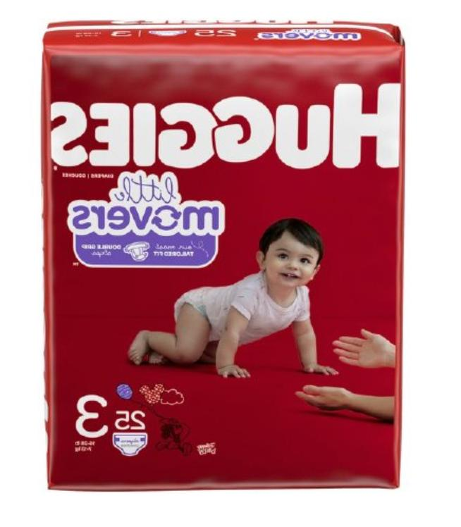 unisex baby diaper little movers size 3