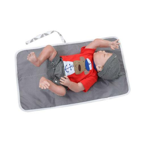 US Baby Diaper Travel Changing Pad Waterproof Mat Bag