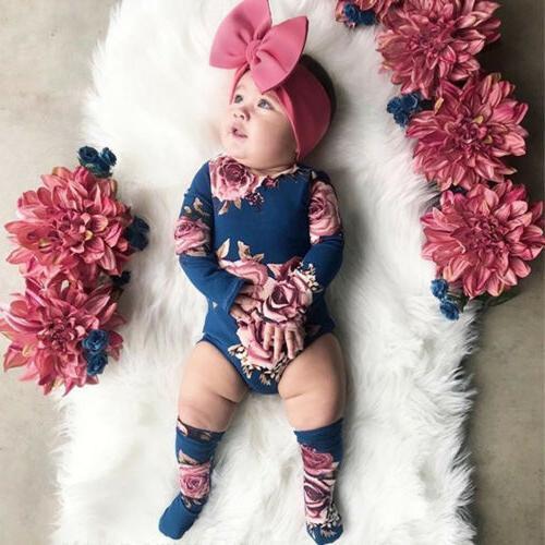 US Flower Romper Bodysuit
