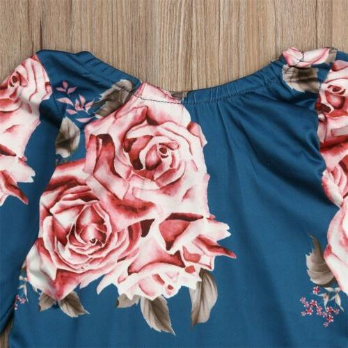 US Newborn Flower Romper Bodysuit Leg Warmer