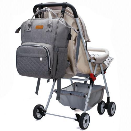LEQUEEN Baby Diaper Bag Nappy Backpack