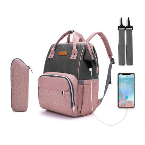 usb charge mommy baby diaper bag maternity
