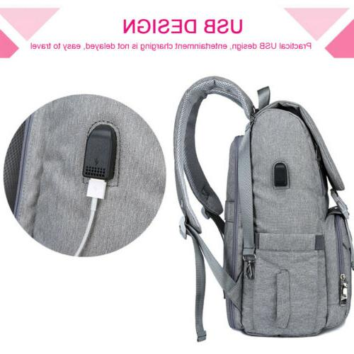 USB Large Baby Diaper Bag Travel Backpack Capacity