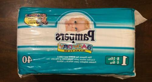 Vintage 1998 Pampers Dry Stretch Diapers #1,