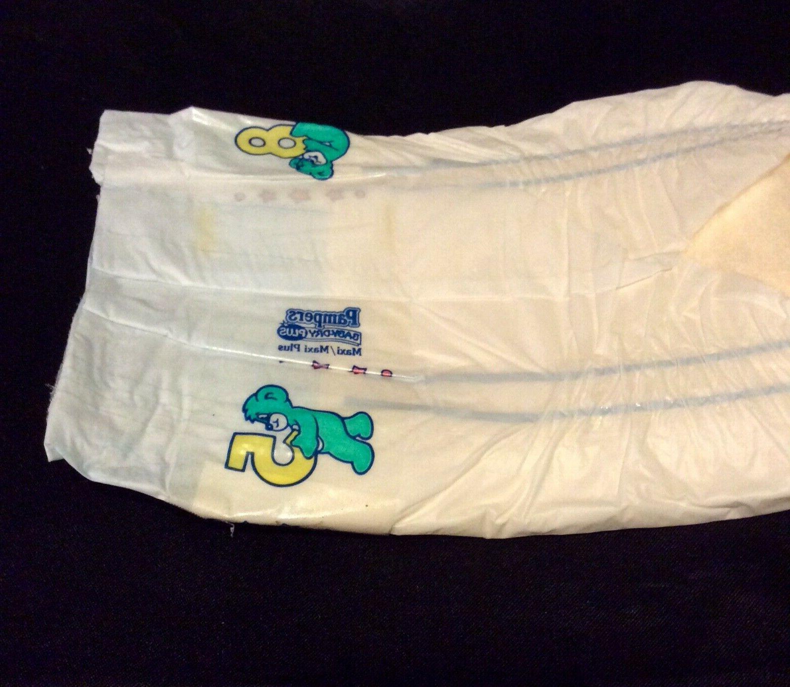 Vintage Pampers Plus Diaper Sz Plus for Boys Greece Import *Rare*
