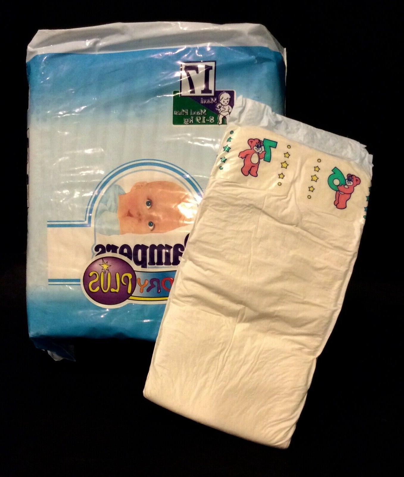vintage baby dry plus diaper sz maxi