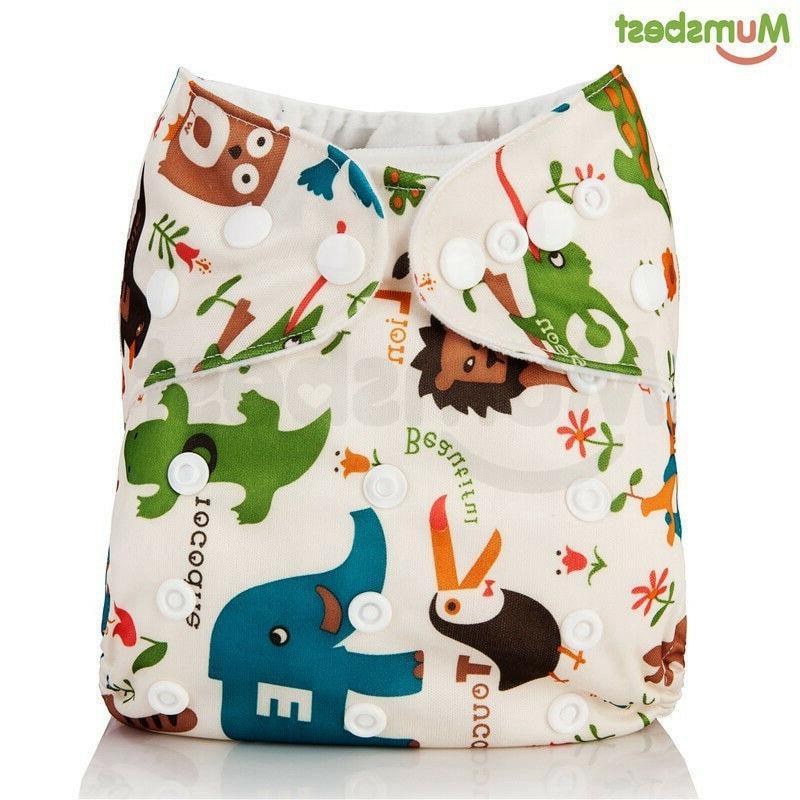 washable baby cloth diaper pocket waterproof cartoon