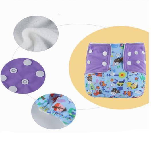 Washable <font><b>Diapers</b></font> <font><b>Baby</b></font> <font><b>Diaper</b></font> Cartoon Print Reusable Cloth