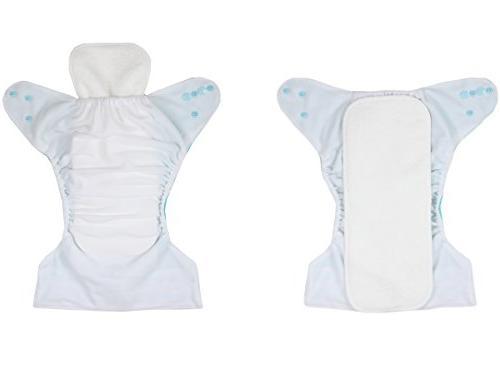 Wegreeco Washable Reusable Cloth Pocket 6 Pack + 6 Inserts