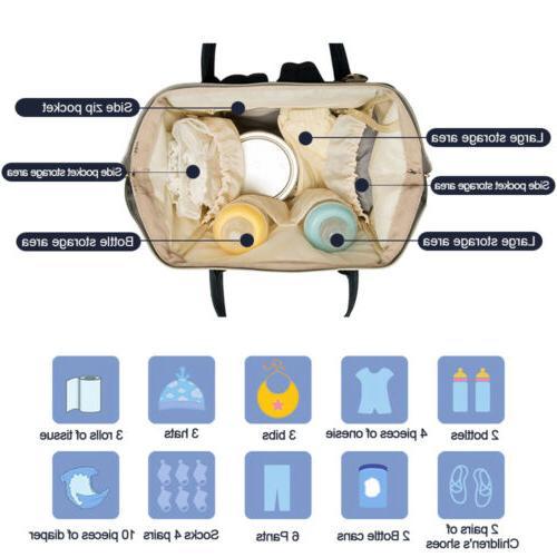 Waterproof Diaper Bag Mummy School Travel Backpack