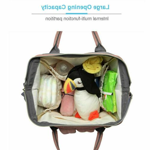 LEQUEEN Nappy Travel USB Backpack