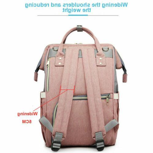 LEQUEEN Waterproof Baby Diaper Bag Maternity Travel USB Backpack