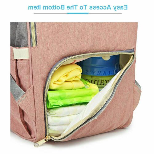 LEQUEEN Baby Diaper Bag Mummy Travel USB Backpack