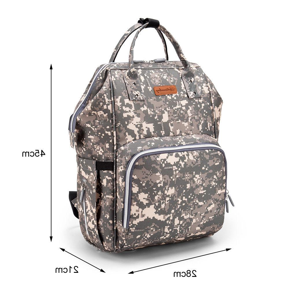 Waterproof Nappy Diaper Baby Bag with USB Port US