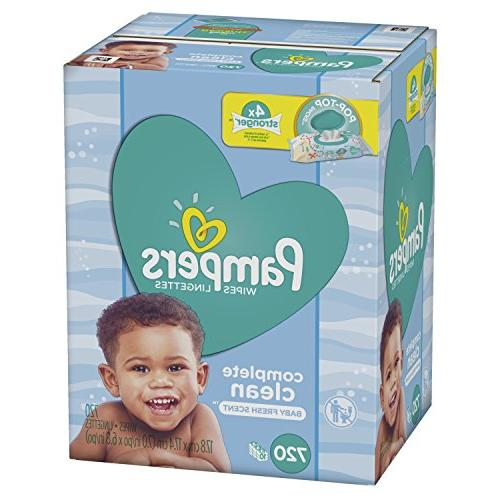 Pampers Complete Clean Scented 10X Pop-Top Packs, 720