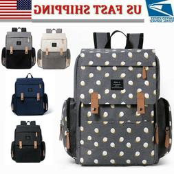 LAND Mommy Backpack Diaper Bags Large Multifunctional Baby N