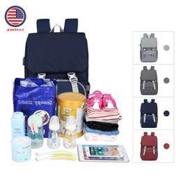 Large Capacity Diaper Bags Waterproof Mummy Maternity USB Na