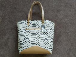 Parasol Co. Large Diaper Bag; Modern Ivory and Black Print;