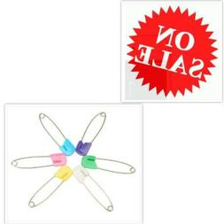 Diaper Pins Baby Safety Pins Assorted Bulk Small Large Rainb