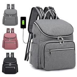 Large Mummy Diaper Bag USB/Earphone Port Baby Nappy Travel B