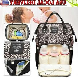 LEQUEEN Baby Diaper Bag Mummy Maternity Nappy Changing Backp