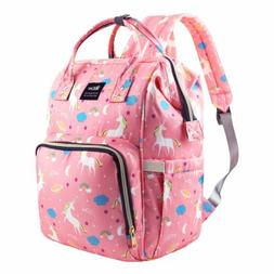Diaper Bag Backpack Large Capacity Unicorn Baby Travel Bookb