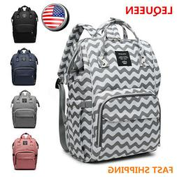 LEQUEEN Waterproof Baby Diaper Bag Mummy Maternity Nappy Tra