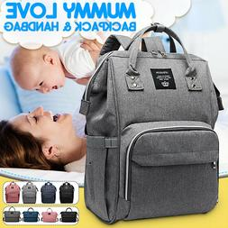 LEQUEEN Waterproof Baby Mummy Diaper Bag Maternity Nappy Tra