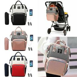 LEQUEEN Waterproof Baby Nappy Diaper Bag Mummy Maternity Tra