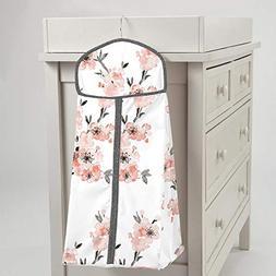 Carousel Designs Light Coral Cherry Blossom Diaper Stacker