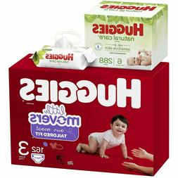 Little Movers Baby Diapers, Size 3, 162 Ct & Natural Care Un
