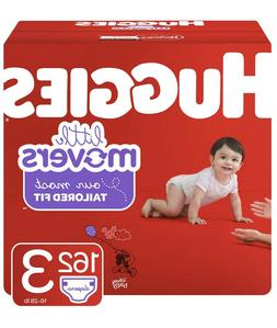 Huggies Little Movers Baby Diapers, Size 3 to 6 162Ct 14 lbs