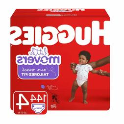 Huggies Little Movers Baby Diapers, Size 4, 144 Ct,