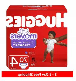 Huggies Little Movers Baby Diapers, Size 4, 70 Ct