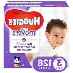 HUGGIES LITTLE MOVERS Diapers, Size 3 , 128 Ct., GIANT PACK